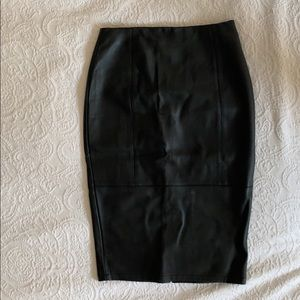 ASOS Faux Leather Pencil Skirt in Black